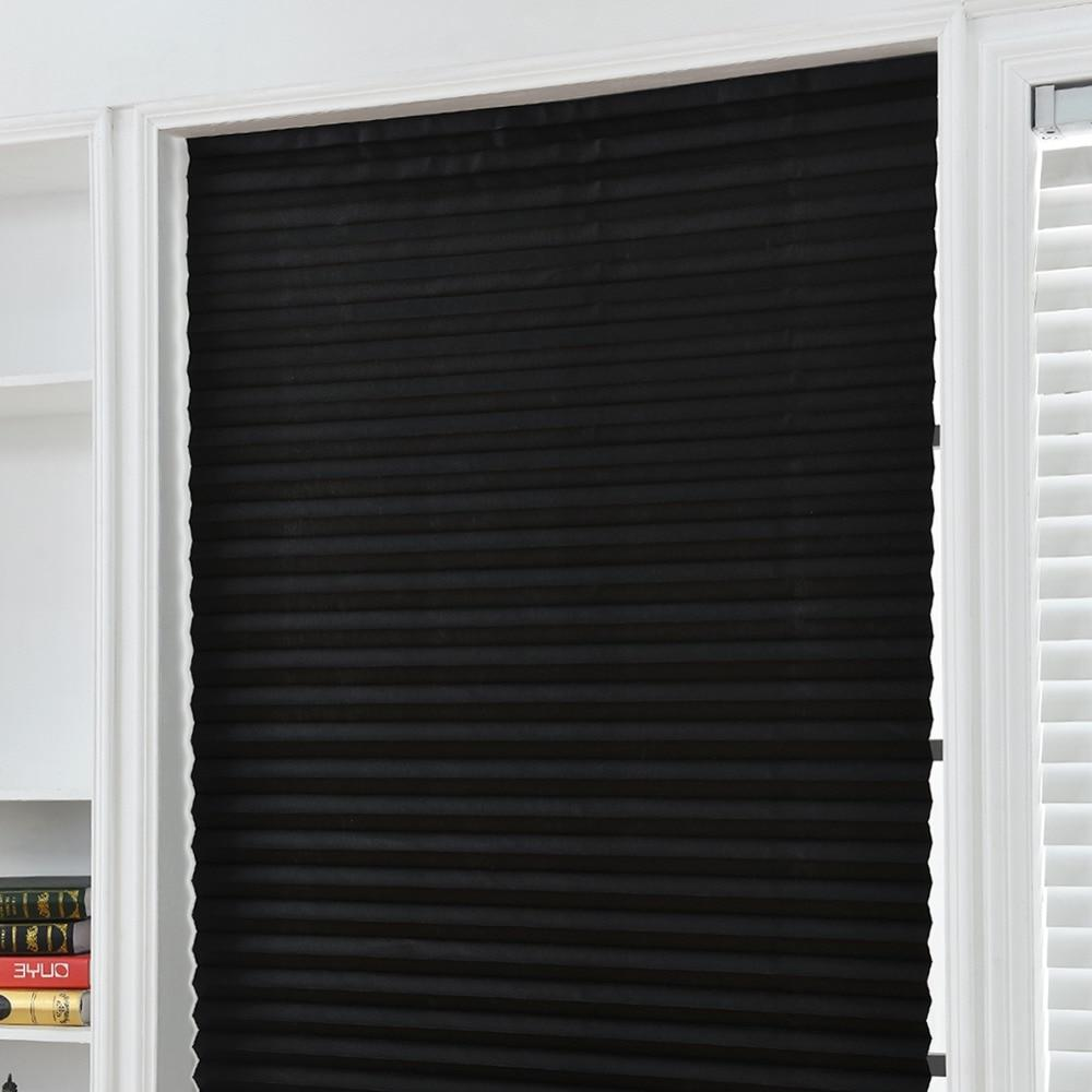 Self-Adhesive Pleated Half Blackout <font><b>Windows</b></font> Bathroom Balcony Shades <font><b>For</b></font>