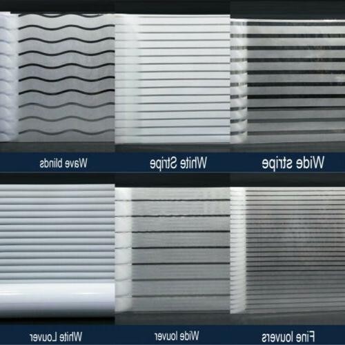 striped frosted glass vinyl sticker bathroom window