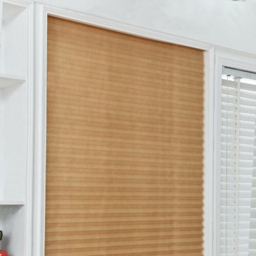 US Pleated Kitchen Curtain Shades Adhesive