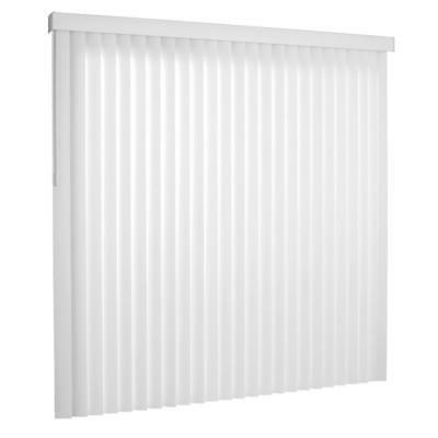 Vertical Blinds PVC Matte White 78 in. W x 84 in. L Light Fi