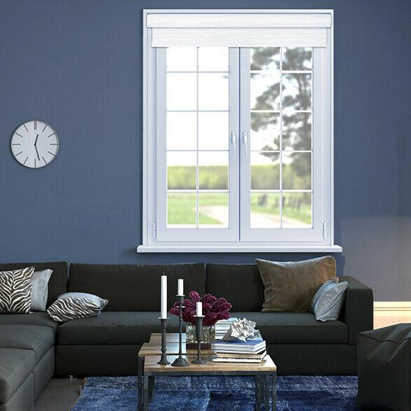 White Blackout Cordless Roller Shade Out Roller Blind Covering