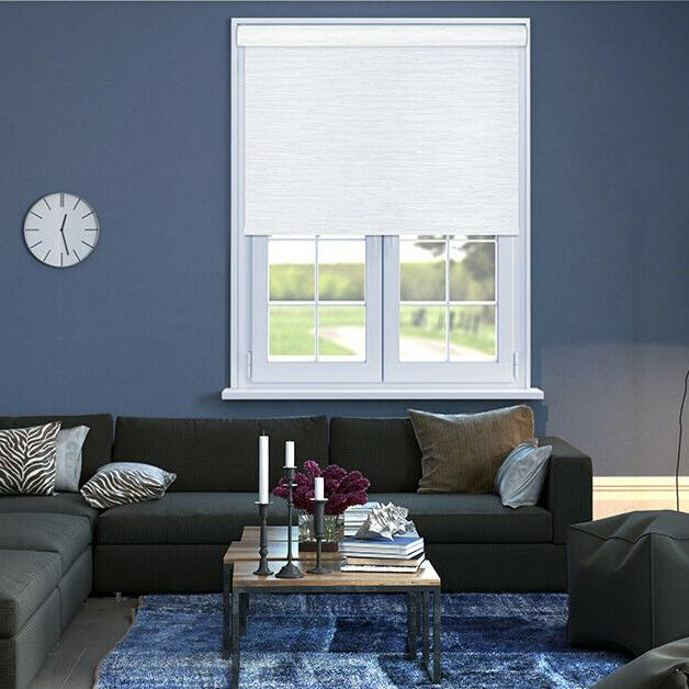 White Blackout Cordless Shade Black Out Roller