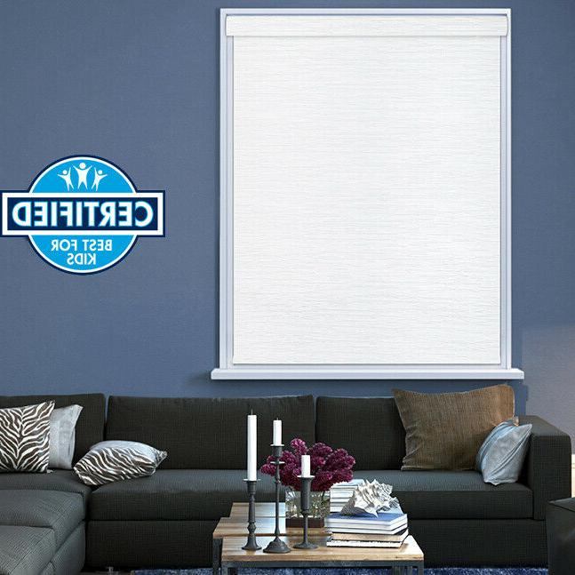 White Blackout Cordless Shade Out Window Roller Blind