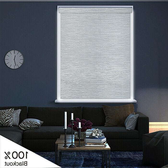 White Cordless Shade Out Window Roller Blind Covering