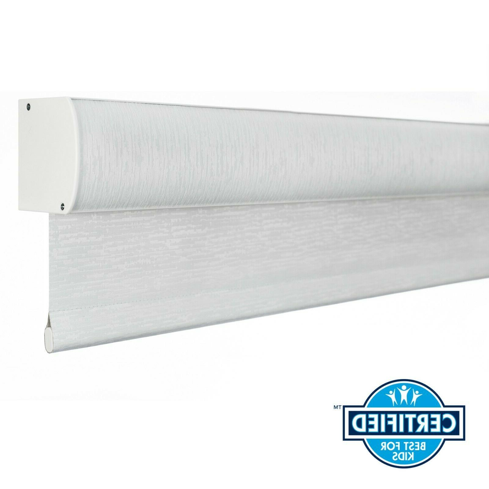 white blackout cordless roller shade black out