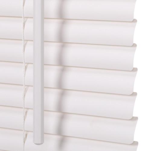 "1"" Vinyl Mini Blind Cordless Window Blinds Shade Washable Wh"
