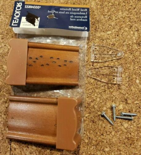 wood blind returns set of 2 rustic