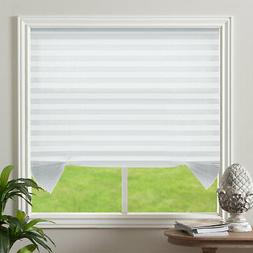 Light Filtering Pleated Non Woven Fabric Cordless White Wind