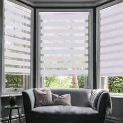 LUCKUP Horizontal Window Shade Blind Zebra Dual Roller Blind