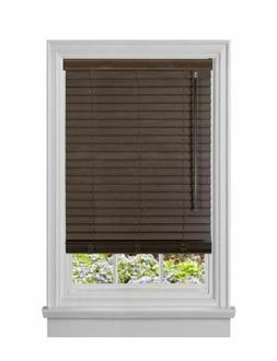 ACHIM Mahogany Cordless Room Darkening Faux Wood Blinds with