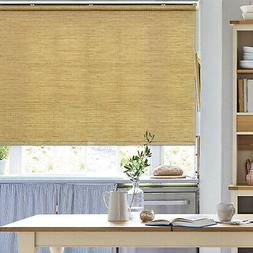 Natural Woven Bamboo Color Free Stop Cordless Roller Shade R