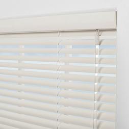 """NEW Levolor 1"""" White Aluminum Room Darkening Mini Blind, Var"""