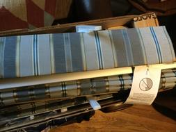"NEW Levolor Custom Fabric Pleated Blinds w/ Valance - 36""W"