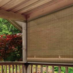 Outdoor 48 in x 72 in. Cordless Roll Up Blind Sun Shade Pati