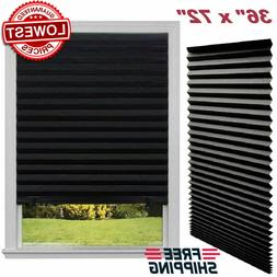 Paper Pleated Shade 36'' x 72'' Window Blind Sun UV Block Bl