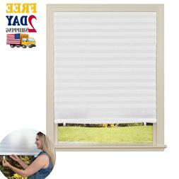 Paper Window Blinds Black Out Pleated 36 x 72 Inch Sun Shade