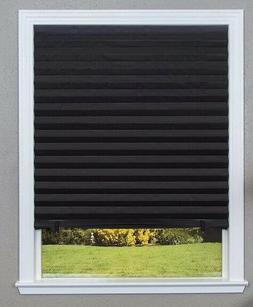 Redi Shade  Paper Window Blinds Black Out Pleated 48 x 72 in