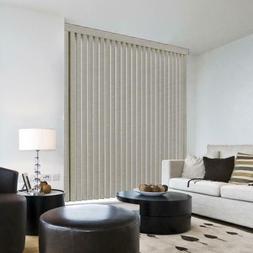 Hampton Bay Pearl Gray Room Darkening Vertical Blind Size 3.