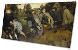 Pieter Bruegel the Elder Blind Leading Blind PANORAMIC CANVA