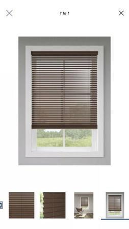 """Levolor Plantation 2"""" Faucwood blinds Walnut 58x72"""