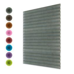 Pleated Blind Window Curtain Shades Temporary Blackout Pull