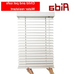 Premium Faux Wood Window Blinds 2 inches Horizontal Blinds W