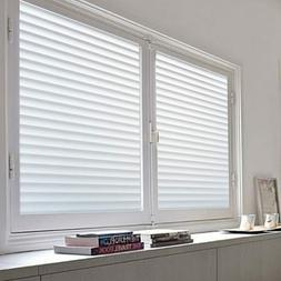 Privacy Window Covering Glass Film Blinds Bathroom Bedroom L