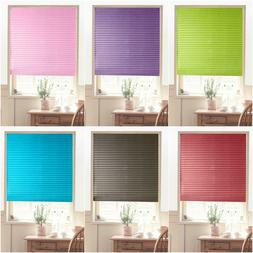 Roller Half Blackout Window Curtain Shade Pleated Rolling Bl