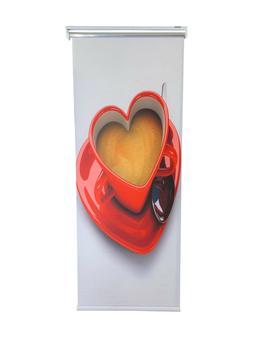 Roller Blinds , Roller Blind Festa Print Heart  Design 30''