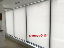 """Roller Shade 1% Opennes """"Chalk"""" Color  Blind Home Window Cus"""