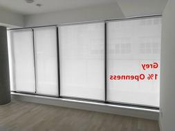 """Roller Shade 1% Openness """"Grey"""" Color  Blind Home Window Cus"""