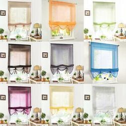 Roman Shades / Window Blind Sheer Fabric Curtain Drape , Lig