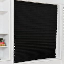 New Self-Adhesive Non-woven Pleated Blinds Curtains Half Sha