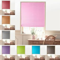 Self-Adhesive Pleated Blinds Curtains Half Blackout Windows