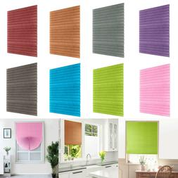 Self-Adhesive Pleated Blinds Home Half Blackout Window Curta