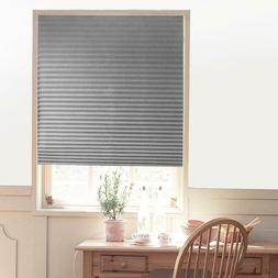 Self-Adhesive Pleated Blinds Kitchen Half Blackout Window Cu