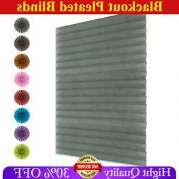 Self-Adhesive Pleated Roller Blinds Bathroom Half Blackout W
