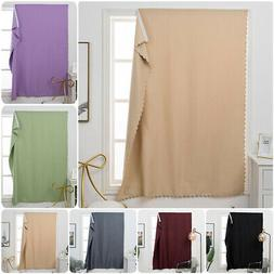 Solid Blackout Blind Curtain Thermal Window Drape Self Adhes