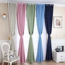 Star Kids Bedroom Living Room Window Curtains Blind Shading