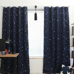 Starry Star Curtains Window Blinds Drapes Set 2 Panel Room D