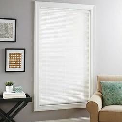 "Sundown White Cordless Deluxe Room Darkening 1"" Window Mini"