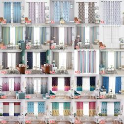 Tower Print Polyester Window Curtains Bedroom Blackout Windo