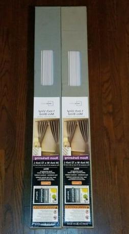 """Two set Mainstays Room Darkening WHITE 31 W x 72"""" L 1 Inch V"""