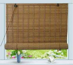 Corded Bamboo Blind Shade Roll Up UV Sun Protect Window Priv