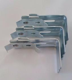 Vertical Blind Wall Mount Brackets with Clips and Built in V