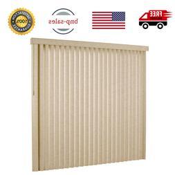 Vertical Blinds 78 x 84 Textured Khaki Windows Or Patio Door