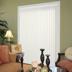 Vertical Blinds PVC White 78 in. W x 84 in. L Light Filterin