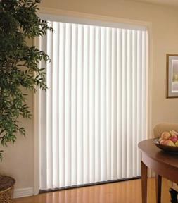 Vertical Blinds PVC Matte White 78 in. W x 84 in. L Light Fi