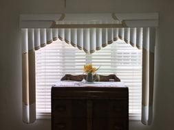 Vertical Textured Window Blind various colors filtering home