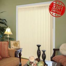VERTICAL WINDOW BLINDS Shades Cordless Patio Sliding Glass D